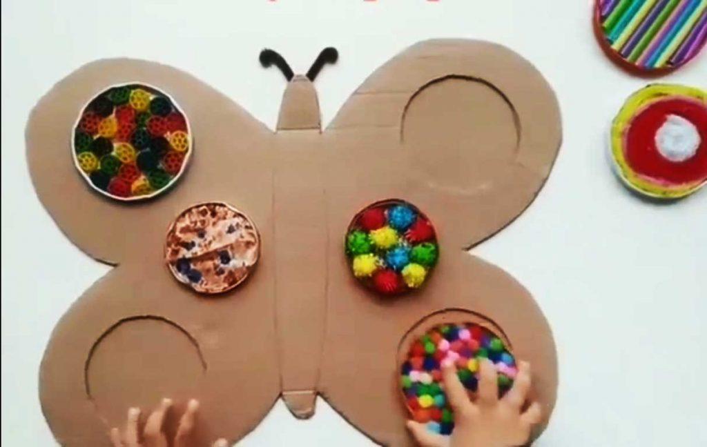 Montessori Etkinlikleri Kartondan Kelebek Yapboz Tamamlama