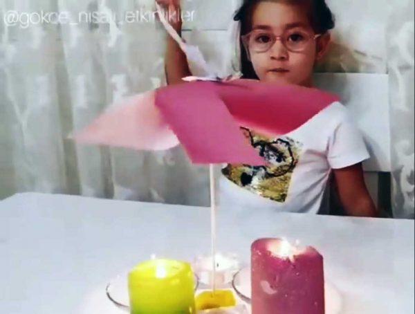 Montessori Etkinlikleri Mum Isısı Ile Dönen Rüzgar Gülü