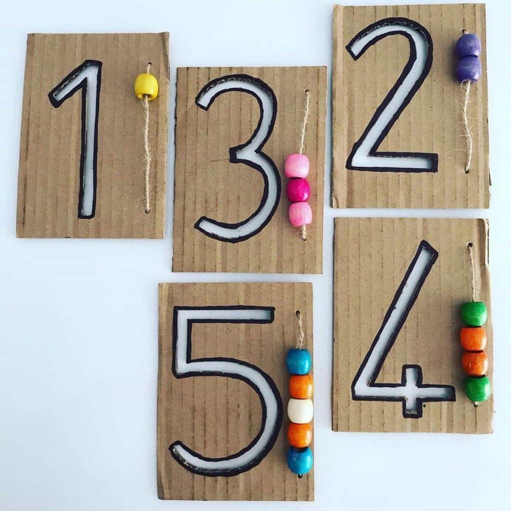 Montessori Etkinlikleri - Rakamlarla Çizgi Çalışması