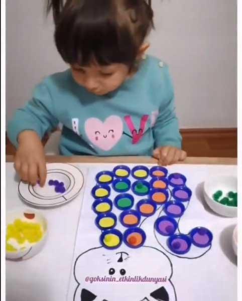 Montessori Etkinlikleri Rengarenk Miyav Ile Renkleri Öğreniyorum 1