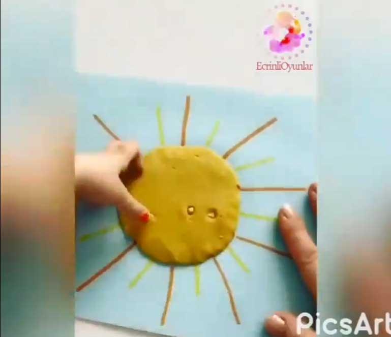 Montessori Etkinlikleri Mısırlı Güneş Yapımı