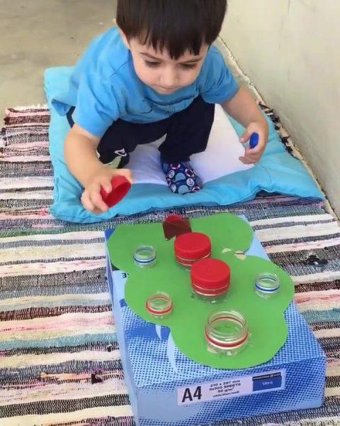 Montessori Etkinlikleri Kapak Eşleştirme
